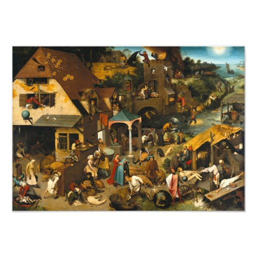 Pieter Bruegel the Elder - Netherlandish Proverbs Photo Print