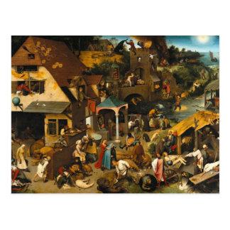 Pieter Bruegel the Elder- Netherlandish Proverbs Postcard