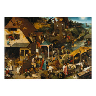 Pieter Bruegel the Elder- Netherlandish Proverbs Poster
