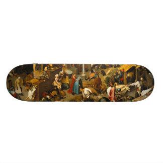 Pieter Bruegel the Elder - Netherlandish Proverbs Skate Boards