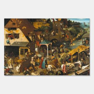 Pieter Bruegel the Elder - Netherlandish Proverbs Signs