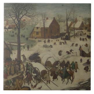 Pieter Bruegel the Elder -  Numbering at Bethlehem Tile
