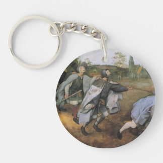 Pieter Bruegel the Elder- Parable of the Blind Single-Sided Round Acrylic Keychain