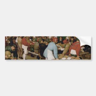 Pieter Bruegel the Elder - Peasant Wedding Bumper Sticker
