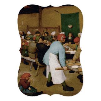 Pieter Bruegel the Elder - Peasant Wedding Card