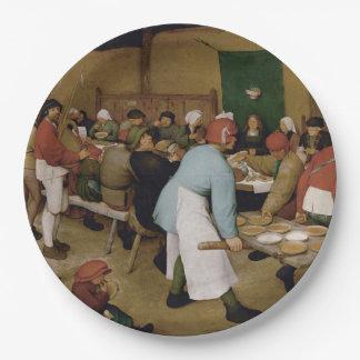 Pieter Bruegel the Elder - Peasant Wedding Paper Plate