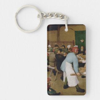 Pieter Bruegel the Elder - Peasant Wedding Single-Sided Rectangular Acrylic Keychain