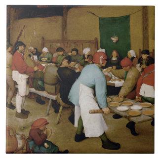 Pieter Bruegel the Elder - Peasant Wedding Tile