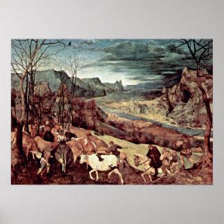 Pieter Bruegel the Elder - Return of the herd Posters