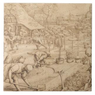 Pieter Bruegel the Elder - Spring Ceramic Tile