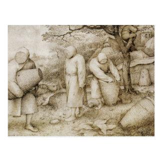 Pieter Bruegel the Elder - The Beekeepers Postcard