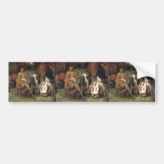 Pieter Bruegel the Elder- The Beggars Car Bumper Sticker
