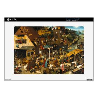 "Pieter Bruegel the Elder - The Dutch Proverbs 15"" Laptop Skins"