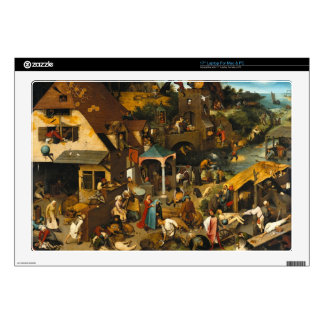 "Pieter Bruegel the Elder - The Dutch Proverbs 17"" Laptop Skins"