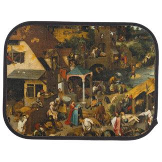 Pieter Bruegel the Elder - The Dutch Proverbs Car Mat