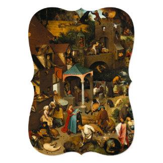 Pieter Bruegel the Elder - The Dutch Proverbs Card