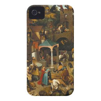 Pieter Bruegel the Elder - The Dutch Proverbs iPhone 4 Case-Mate Cases