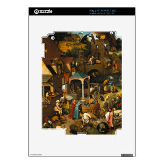 Pieter Bruegel the Elder - The Dutch Proverbs Decal For iPad 2