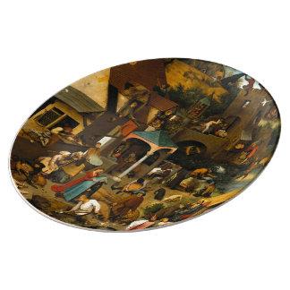 Pieter Bruegel the Elder - The Dutch Proverbs Dinner Plate