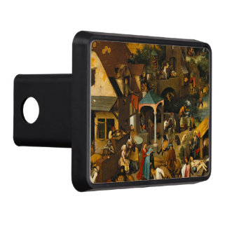 Pieter Bruegel the Elder - The Dutch Proverbs Hitch Cover