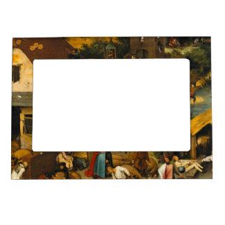 Pieter Bruegel the Elder - The Dutch Proverbs Magnetic Frame