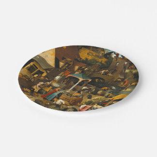 Pieter Bruegel the Elder - The Dutch Proverbs Paper Plate