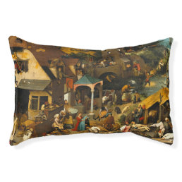 Pieter Bruegel the Elder - The Dutch Proverbs Pet Bed