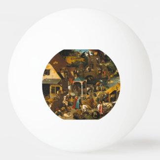 Pieter Bruegel the Elder - The Dutch Proverbs Ping-Pong Ball