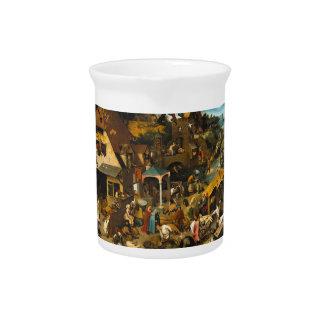 Pieter Bruegel the Elder - The Dutch Proverbs Drink Pitchers
