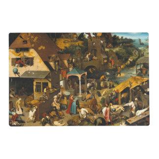 Pieter Bruegel the Elder - The Dutch Proverbs Placemat