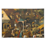 Pieter Bruegel the Elder - The Dutch Proverbs Cloth Placemat