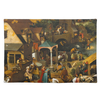 Pieter Bruegel the Elder - The Dutch Proverbs Placemat