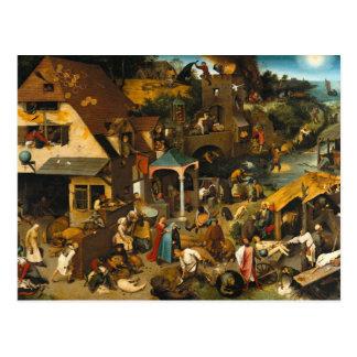 Pieter Bruegel the Elder - The Dutch Proverbs Postcard