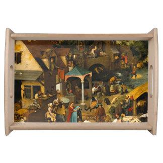 Pieter Bruegel the Elder - The Dutch Proverbs Serving Tray