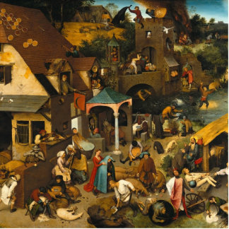 Pieter Bruegel the Elder - The Dutch Proverbs Statuette