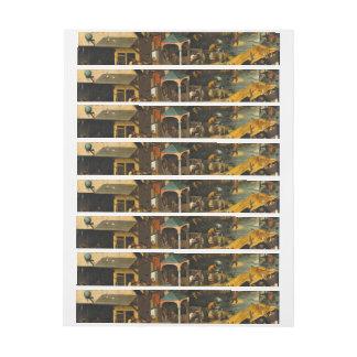 Pieter Bruegel the Elder - The Dutch Proverbs Wrap Around Address Label