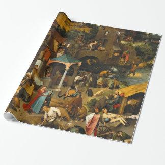 Pieter Bruegel the Elder - The Dutch Proverbs Wrapping Paper
