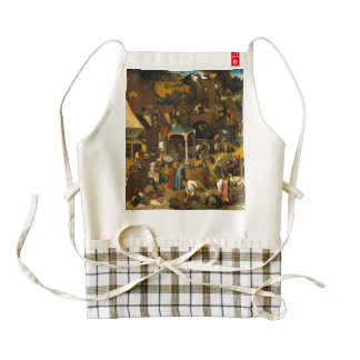 Pieter Bruegel the Elder - The Dutch Proverbs Zazzle HEART Apron