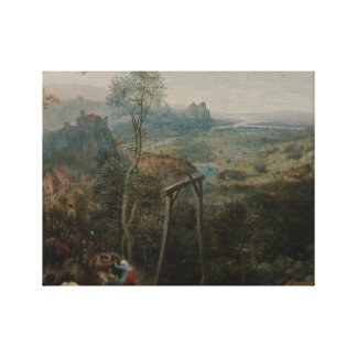 Pieter Bruegel the Elder-The Magpie on the Gallows Canvas Print