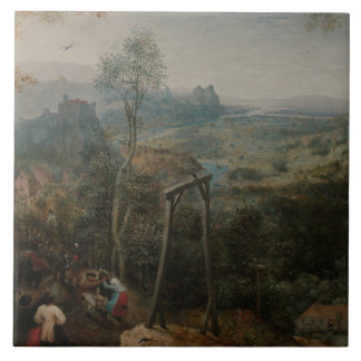 Pieter Bruegel the Elder-The Magpie on the Gallows Tile