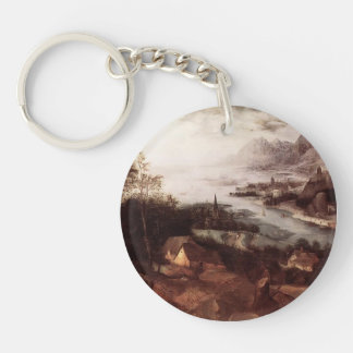 Pieter Bruegel the Elder- The Parable of the Sower Single-Sided Round Acrylic Keychain