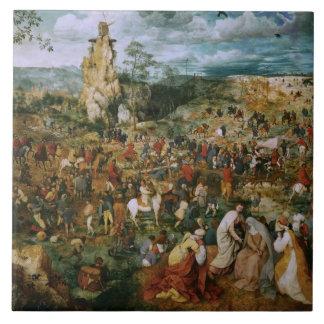 Pieter Bruegel the Elder-The Procession to Calvary Ceramic Tile