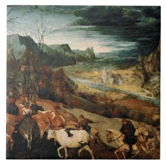 Pieter Bruegel the Elder - The Return of the Herd Ceramic Tile