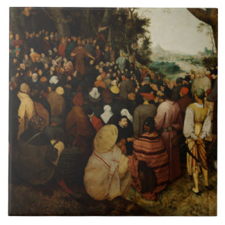 Pieter Bruegel the Elder - The Sermon of St John Ceramic Tile