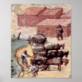 Pieter Bruegel the Elder - Tower of Babel Detail Poster