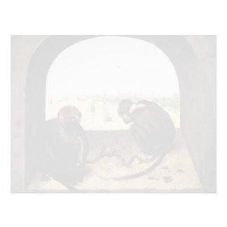 Pieter Bruegel the Elder- Two Chained Monkeys Personalized Letterhead