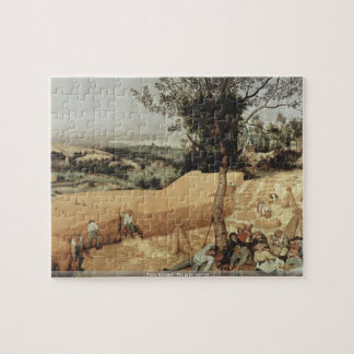Pieter Bruegel - The grain harvest puzzle