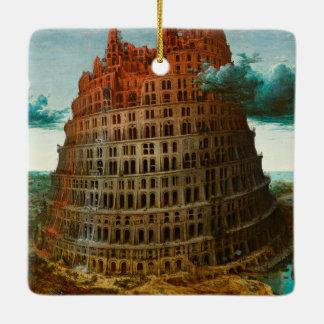 PIETER BRUEGEL - The little tower of Babel 1563 Ceramic Ornament