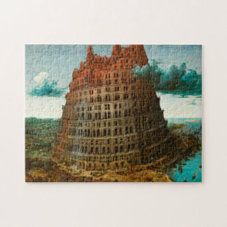 PIETER BRUEGEL - The little tower of Babel 1563 Jigsaw Puzzle