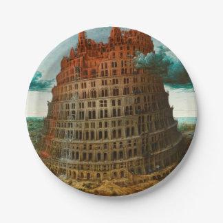PIETER BRUEGEL - The little tower of Babel 1563 Paper Plate